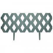 """Забор декоративный пластиковый FIT """"Ромб"""", цвет: зеленый, 2 секции,..."""