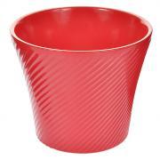 """Кашпо для цветов """"Almas"""", цвет: розовый, 0,6 л, диаметр 12 см"""