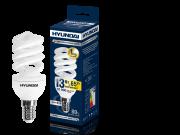 Лампа люминесцентная HYUNDAI fs/2/10-13w-827-e14 t2