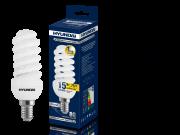 Лампа люминесцентная HYUNDAI fm/2/10-15w-827-e14 mini