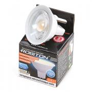 Лампочка Robiton LED MR16-4.6W-220V-2700K-GU5.3