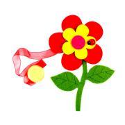 """Клипса-магнит для штор Астра """"Цветок с декором"""", цвет: зеленый,..."""