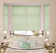 """Штора рулонная """"Миниролло"""", 37x170cm, тканевые, цвет: светло-зеленый"""