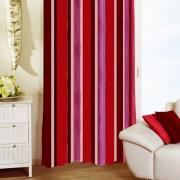 """Гардина """"Schaefer"""" на петлях, цвет: бордовый, красный, розовый, 140 х..."""