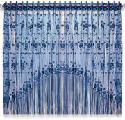 """Штора нитяная Magnolia """"Кисея"""", цвет: синий, высота 155 см. CQ M..."""