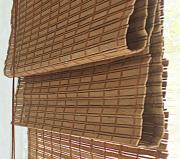 Римская штора Эскар 120x160 см, бамбуковая, цвет: какао