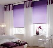 """Штора рулонная """"Миниролло"""", 52x170cm, тканевые, цвет: фиолетовый"""