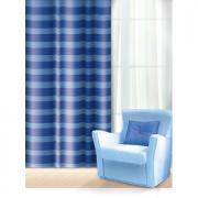 """Штора Home Queen """"Нуар"""", на петлях, цвет: синий, высота 275 см"""