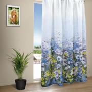 "Тюль Amore Mio ""лен Акварель"", 200x270 см, цвет: голубой. 79739"