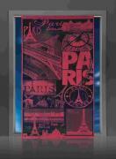 """Гардина-панно Wisan """"Paris"""", цвет: бордовый, высота 240 см"""
