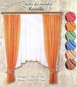 """Комплект штор для кухни """"Kornelia"""", на ленте, цвет: бордо, высота 170..."""