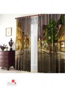 Комплект штор, 1,50 х 2,70 (2 шт) ТамиТекс, цвет коричневый, серый,...