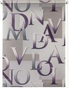 "Штора рулонная Уют ""Скрипт"", цвет: серый, фиолетовый, 50 х 175 см"