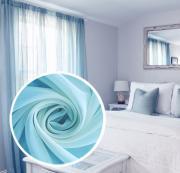 """Вуаль Amore Mio """"Однотонная"""", 300x270 см, 1 шт, цвет: голубой. 77539"""