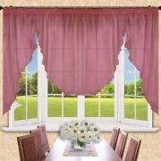 Комплект для кухни Реалтекс модель (007) грязно-розовый