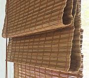 Римская штора Эскар 140x160 см, бамбуковая, цвет: какао