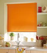 Миниролло KauffOrt 37x170 см, цвет: оранжевый