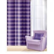 "Штора Home Queen ""Нуар"", на петлях, цвет: лиловый, высота 275 см"