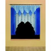 Готовые шторы для кухни Wisan 5491 Pomponiki синий