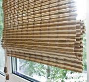 Римская штора Эскар 140x160 см, бамбуковая, цвет: микс
