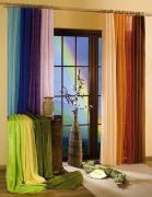 """Гардина-тюль """"Wisan"""", на ленте, цвет: оранжевый, высота 250 см"""