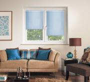 """Штора рулонная """"Миниролло"""", 43x170cm, тканевые, цвет: голубой"""