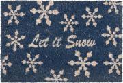 """Коврик придверный Gardman """"Let it Snow"""", 40 см х 60 см"""