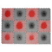 """Коврик """"Травка"""", цвет: черный, красный, 42 см х 56 см"""