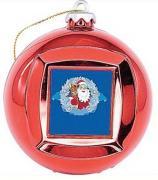 Новогодний сувенир Mister Christmas Frame Ball/1 Red