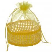"Корзинка Home Queen ""Подарок"", цвет: желтый, 13 см х 20 см"