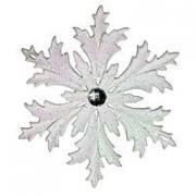 Снежинка МОРОЗКО белая, 12 см, МОРОЗКО CM000-0
