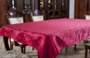 """Скатерть Primavelle """"Розы"""", прямоугольная, цвет: красный, 150 x 220 см"""