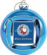 Новогодний сувенир Mister Christmas Frame Ball/2 Blue