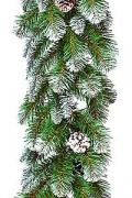 Гирлянда ИМПЕРАТРИЦА с шишками заснеженная 270x30 м, Triumph Tree...