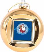 Новогодний сувенир Mister Christmas Frame Ball/3 Gold