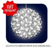 Шар светодиодный Uniel ULD-H1515-100/DTA WHITE IP20 SAKURA BALL