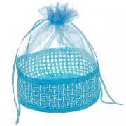 """Корзинка Home Queen """"Подарок"""", цвет: голубой, 13 х 20 см"""