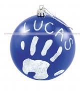 ёлочная игрушка с отпечатком, новогодний шар, baby art christmas ball,...
