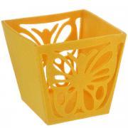"""Корзинка декоративная Home Queen """"Бабочка"""", цвет: желтый, 14 см х 13..."""