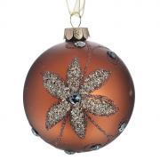 """Новогоднее подвесное украшение """"Шар"""", цвет: коричневый. 26365"""