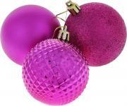 """Набор новогодних подвесных украшений """"Euro House"""", цвет: фуксия,..."""
