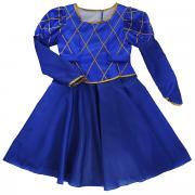 Карнавальный костюм для девочки Вестифика Принцесса, цвет: синий. 102...