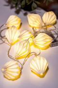 Гирлянда БУМАЖНЫЕ БРИЛЛИАНТЫ белая, 10 тёплых белых LED-огней, 165 см,...