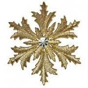 Снежинка МОРОЗКО золотая, 12 см, МОРОЗКО CM000-3