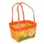 """Корзинка декоративная Home Queen """"Крольчонок"""", цвет: оранжевый, 12 см..."""
