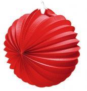 """Фонарик бумажный """"Susy Card"""", цвет: красный, диаметр 22 см"""