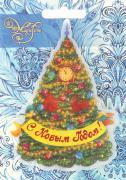 """Украшение новогоднее Magic Time """"Новогодняя елка в золотых узорах"""", со..."""