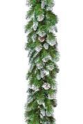 Гирлянда ИМПЕРАТРИЦА с шишками заснеженная 180x30 м, Triumph Tree...