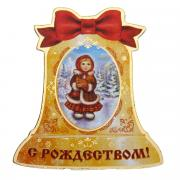 """Магнит Sima-land """"С Рождеством! Колокол"""", 7 х 6,5 см"""