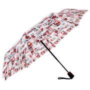 Зонт Doppler Red Black White Flowers 7441465 RB2